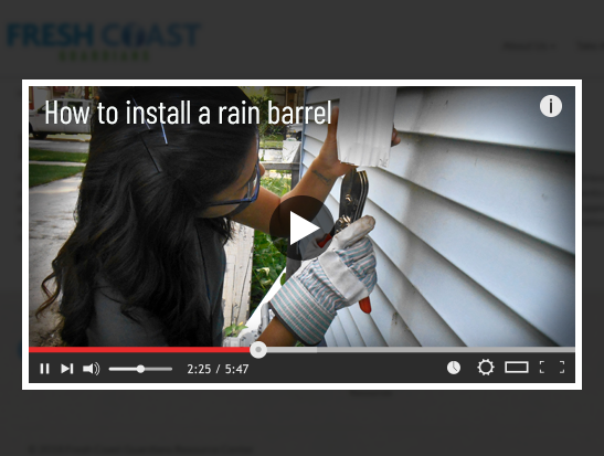 Rain barrel installation video