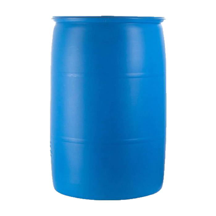 blue rain barrel
